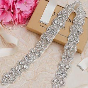 Bridal Belts and Sashes Crystal Rhinestone
